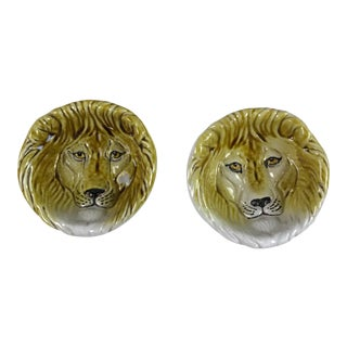 Mid Century Italian Lion Trinket Bowls Dishes - a Pair For Sale