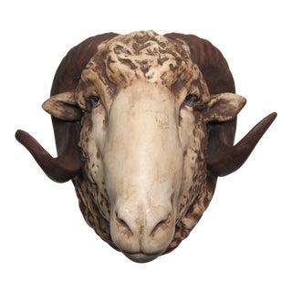 Vintage Ram Head Art Pottery
