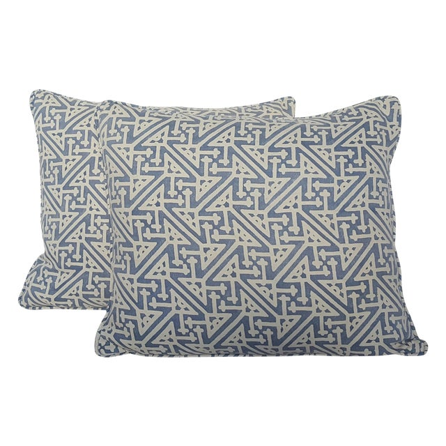 Fortuny Periwinkle Pillows - Pair - Image 1 of 3