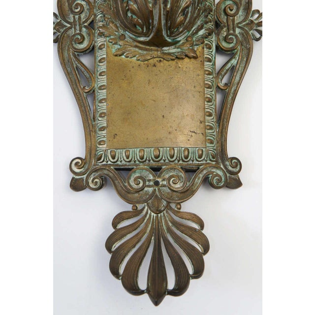 Bronze Neoclassical Beaux-Arts Wall Sconces, Circa 1910 For Sale In New York - Image 6 of 7