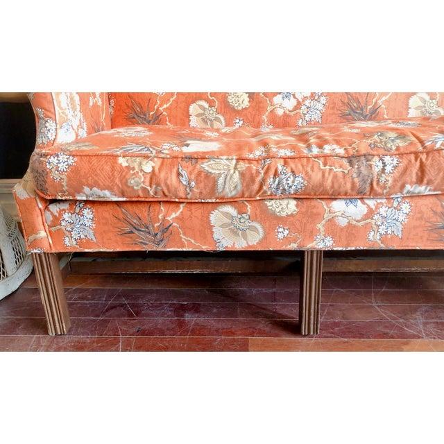 1970s Vintage Baker Camelback Sofa For Sale - Image 5 of 12