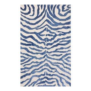 "Edgy Hand-Tufted Bamboo Silk & Wool Zebra Rug- 7' 9"" x 9' 9"""