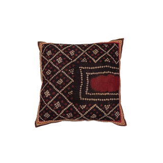 Indian Gudjarati Applique Pillow For Sale