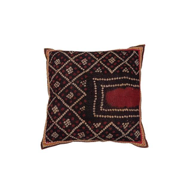 Indian Gudjarati Applique Pillow For Sale