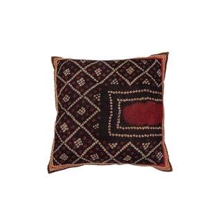 Indian Gudjarati Block Print Pillow For Sale