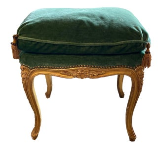 18th Century Green Upholstered Napoleonic Bench For Sale