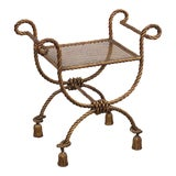 Image of Hollywood Regency Style Bench For Sale