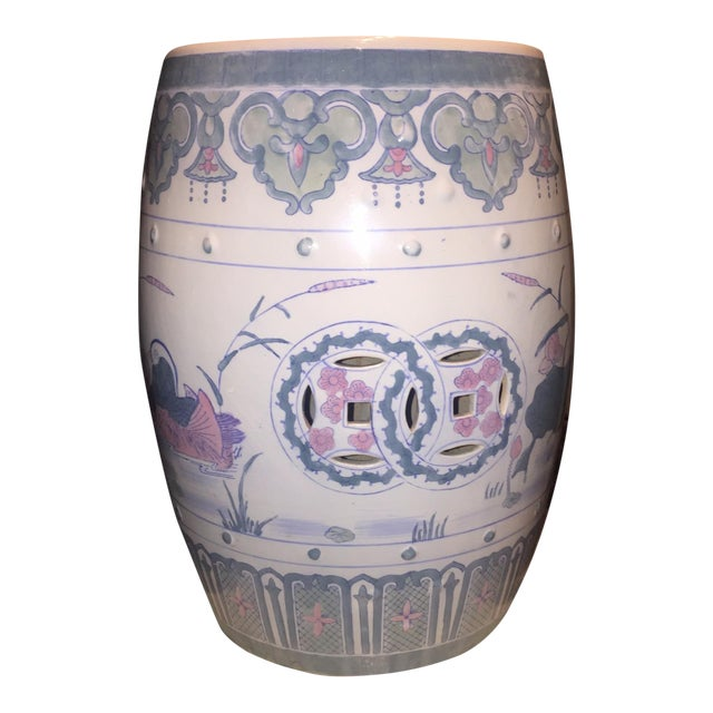 Vintage Chinoiserie Chinese Garden Seat - Image 1 of 5