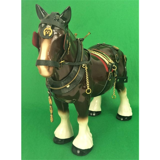 Brooks Brothers Porcelain Draught Horse Figure - Image 5 of 9