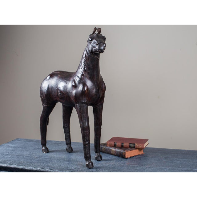 Vintage English Liberty Leather Horse circa 1920 - Image 7 of 11