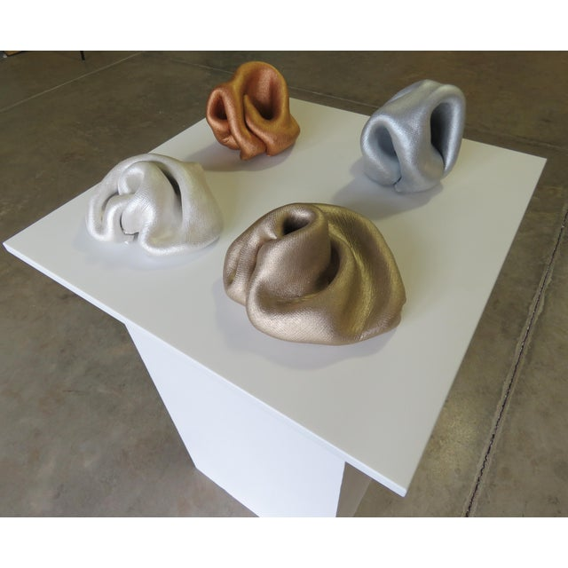 Metal 2019 Sinuosity Mini Sculpture in Metallic Copper For Sale - Image 7 of 10