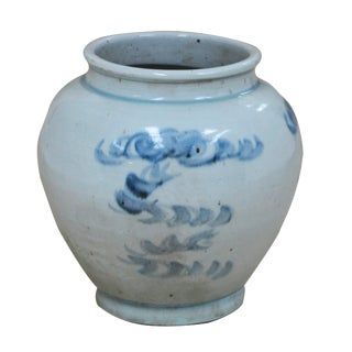 Sarreid Ltd. Traditional Blue & White Flower Pot For Sale