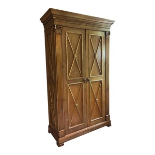 Neosclassical Ej Victor Handcrafted Armoire/Entertainment Center For Sale
