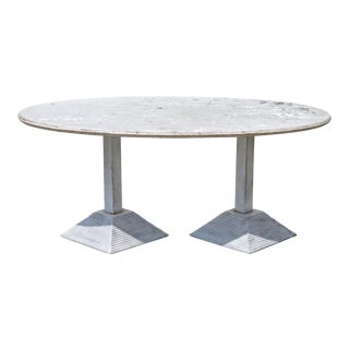 Surfboard Top Studio Table in Plaster