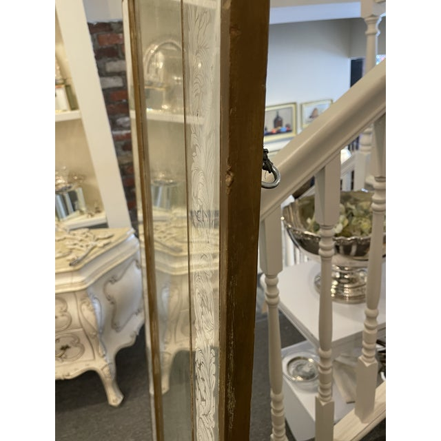 Antique 1920s White Gold Leaf Floor Mirror For Sale In Boston - Image 6 of 7