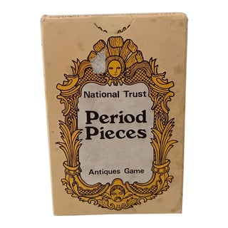 Vintage Mid-Century English Antiques Card Game For Sale