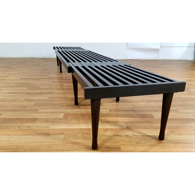 legs tapered modern cap item bench slat x metal thonet