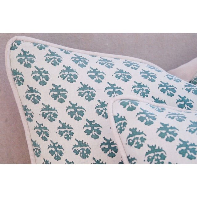 Custom Tailored Designer Italian Fortuny Persiano Pillows - A Pair For Sale - Image 9 of 11