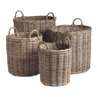 Normandy Round Baskets from Kenneth Ludwig Chicago - Set Of 4 For Sale