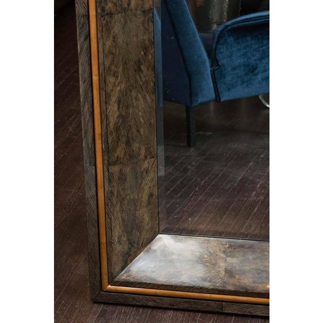 Venfield Coco Shell and Parchment Mirror For Sale - Image 4 of 10