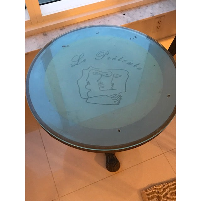 Art Nouveau Jean Cocteau Cafe Table For Sale - Image 3 of 8