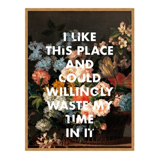 I Like This Place by Lara Fowler in Gold Framed Paper, Small Art Print For Sale