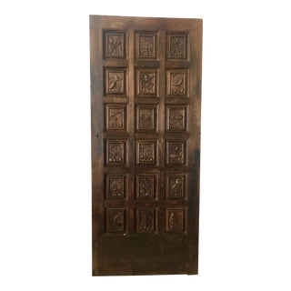 French Hand Carved Maritime Motif Door For Sale