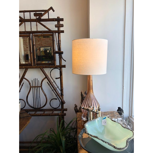 Pink Italian Mid-Century Modern Pink Murano Glass Lamp For Sale - Image 8 of 10