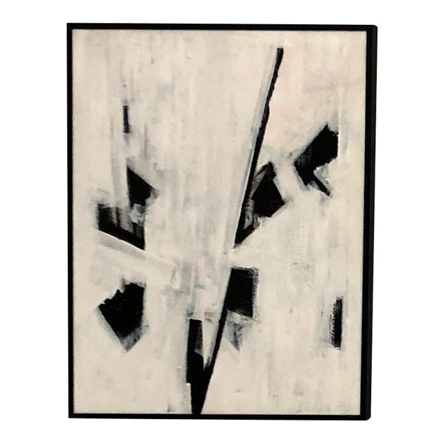 """Ilana Greenberg """"Fragments"""" Abstract Acrylic Framed Painting For Sale"""
