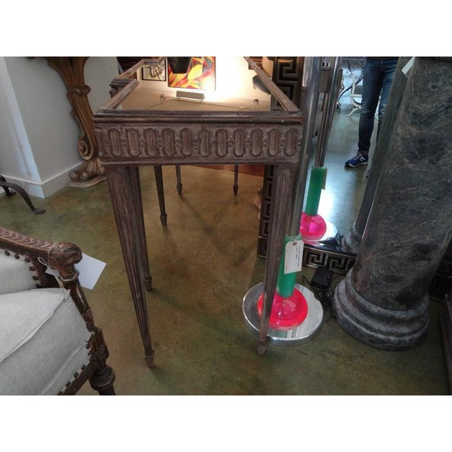 1920's French Louis XVI Style Neoclassical Console Table For Sale - Image 4 of 8