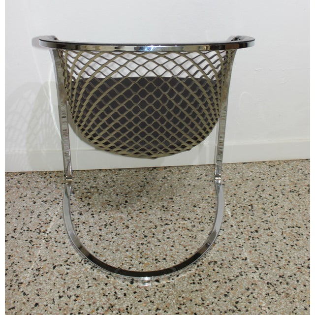 1970s Vintage Mateograssi Dining Chairs in Leather & Chrome - Set of 6 For Sale - Image 5 of 13
