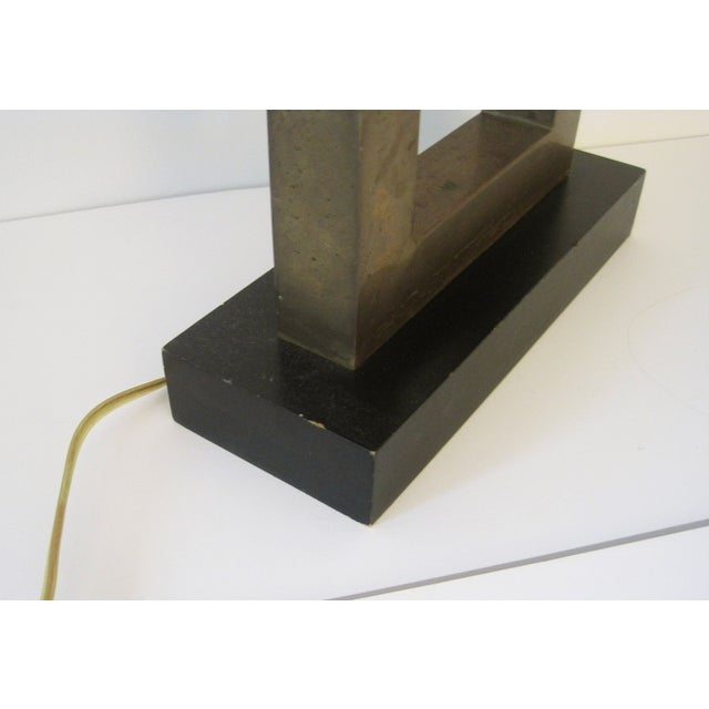 Robert Abbey Square Brass Lamp For Sale - Image 5 of 6