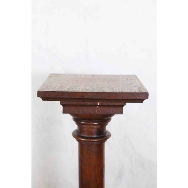 English English Oak Pedestal, 19th Century For Sale - Image 3 of 5