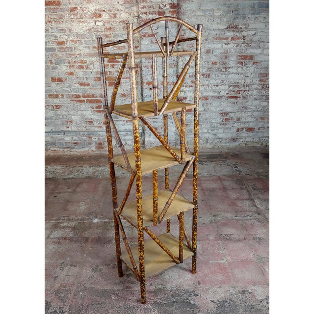 "19th century Original Victorian 5 tier Bamboo bookstand size 17 x 12 x 62"" A beautiful piece that will add to your décor!"