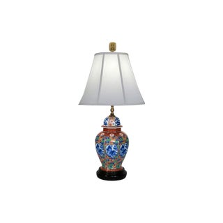Asian-Style Ginger Jar Table Lamp For Sale
