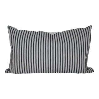 Striped Vintage Ticking Pillow For Sale