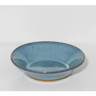 Vintage Japanese Aqua Pottery Bowl, Signed Preview