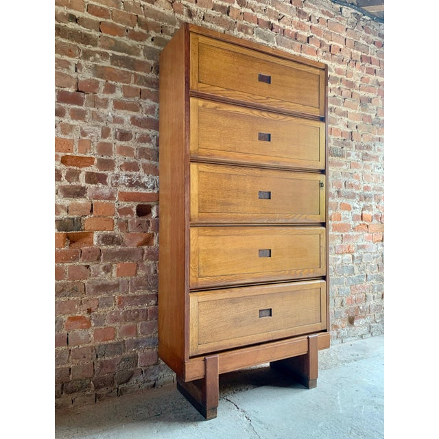 Midcentury Oak Cabinet RAF Staverton circa 1956 N0 3 - A Pair For Sale - Image 11 of 12
