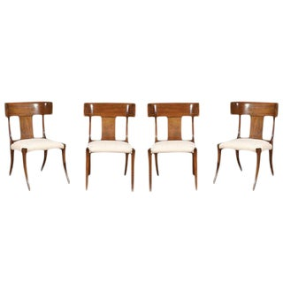 Exquisite Set of Four Klismos Chairs by Stewart MacDougall For Sale