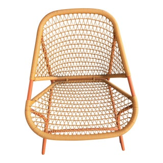 Outdoor Orange Woven Chair For Sale