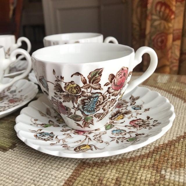 Staffordshire Bouquet England Tea / Coffee Set - 11 Piece For Sale - Image 5 of 9