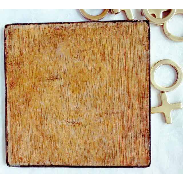 Mid-Century Modern 1970's Brass Tic Tac Toe Game - 11 Pieces For Sale - Image 3 of 5