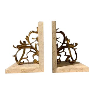 Maitland Smith Brulee Bookends - a Pair For Sale