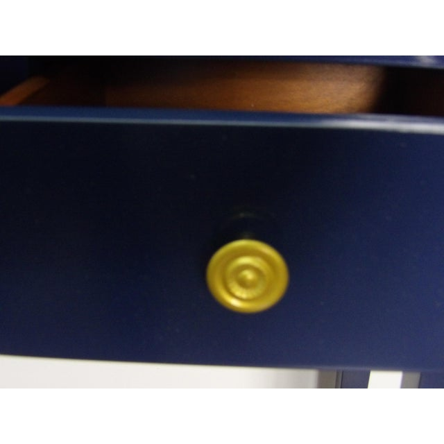 Early 21st Century Transitional Navy Console With Three Drawers For Sale - Image 5 of 6