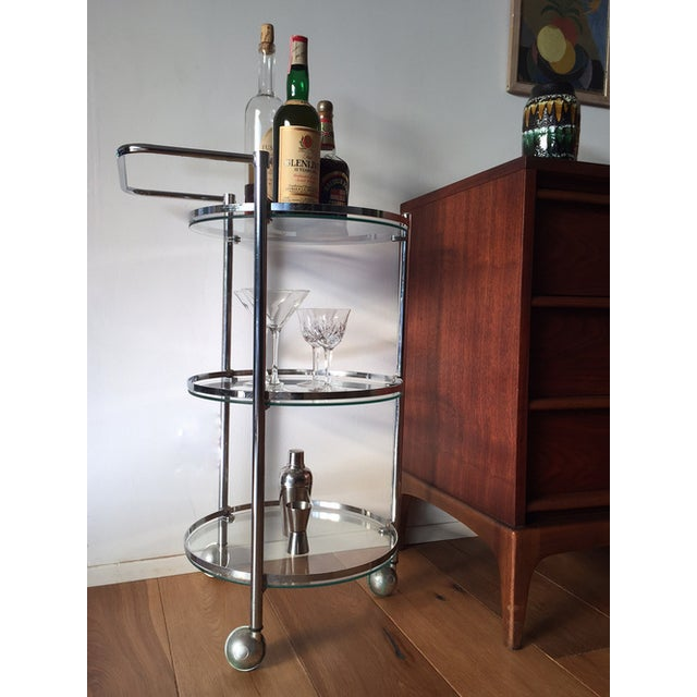 Chrome and Glass 1970s Bar Cart - Image 5 of 5