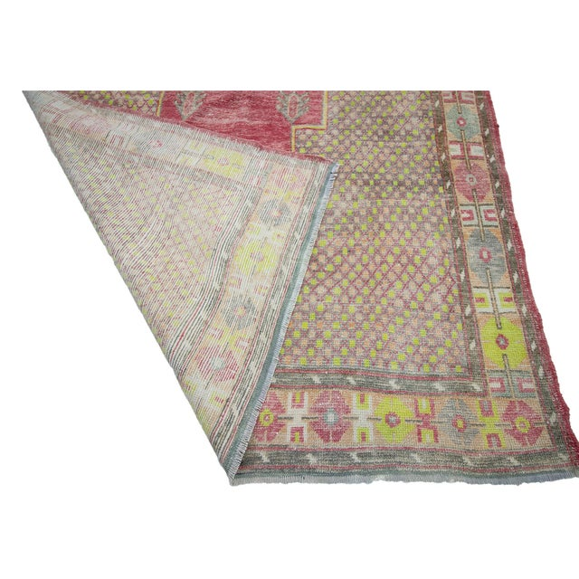 1960s 1960s Vintage Turkish Konya Wool Rug- 5′ × 13′7″ For Sale - Image 5 of 7