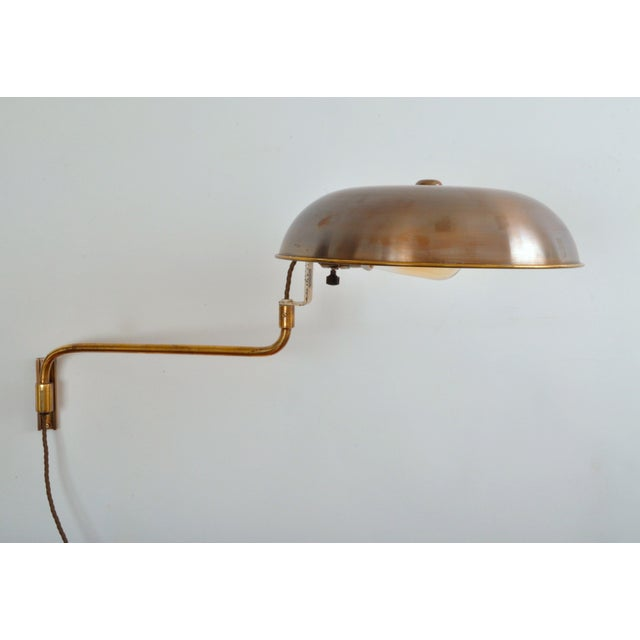 1940s Amba Swing-Arm Wall Lamp, Switzerland, 1940s For Sale - Image 5 of 12