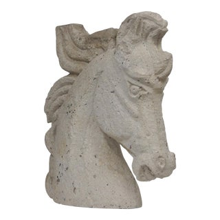 Stone Horse Head Sculpture For Sale