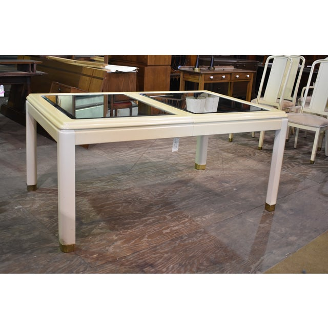 Vintage Milano by Stanley Mirror Top Dining Room Table - Image 2 of 11