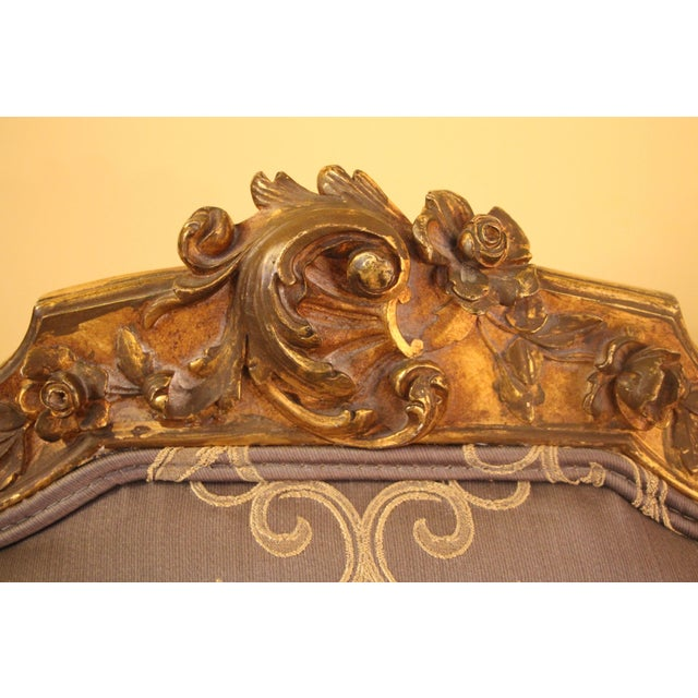 Mid 19th Century Rococo Style Bergère Chair For Sale - Image 5 of 7
